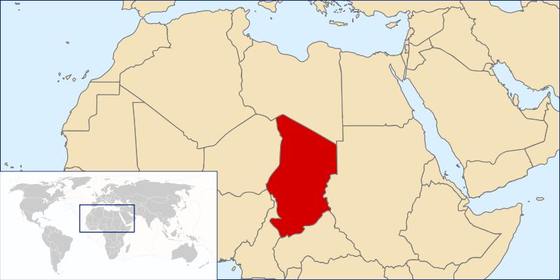 location of Chad high resolution