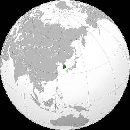 location of South Korea high resolution