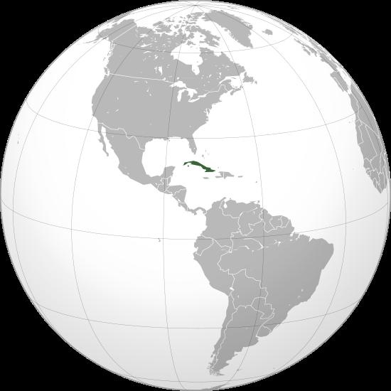 Lage von Kuba hohe Auflösung