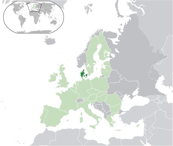 la situation des Danemark haute résolution