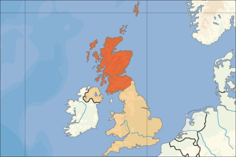 la situacion de Escocia en gran resolucion