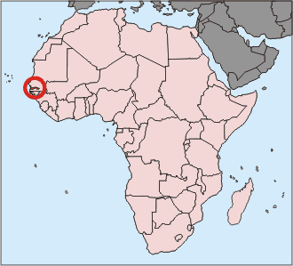 location of Gambia high resolution
