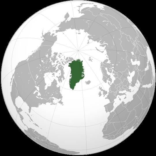 Lage von Grönland hohe Auflösung