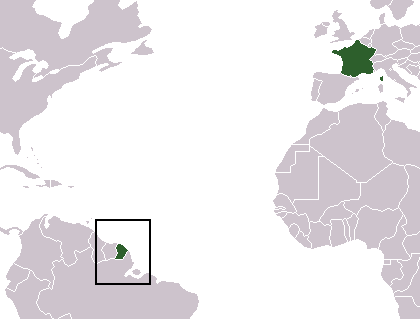 location of French Guiana high resolution