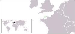 Lage von Guernsey hohe Auflösung