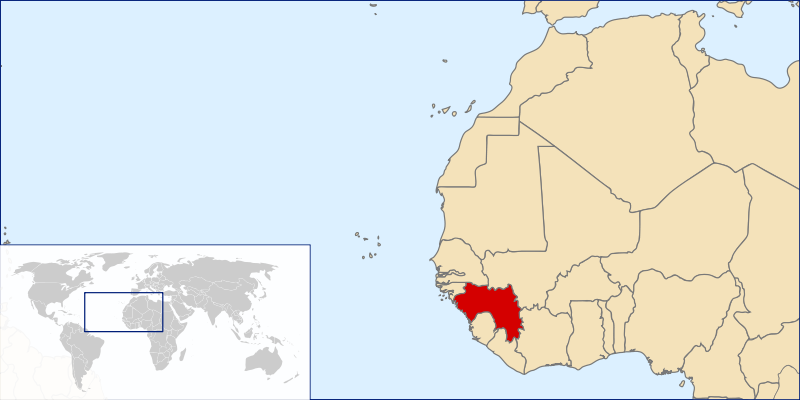 location of Guinea high resolution