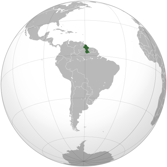 location of Guyana high resolution