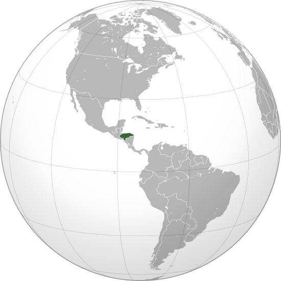 location of Honduras high resolution