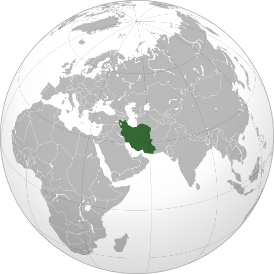 location of Iran high resolution