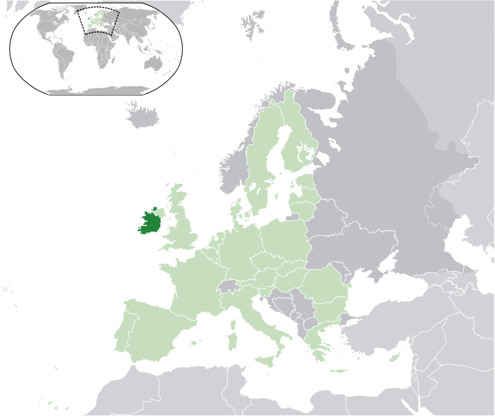 location of Ireland high resolution