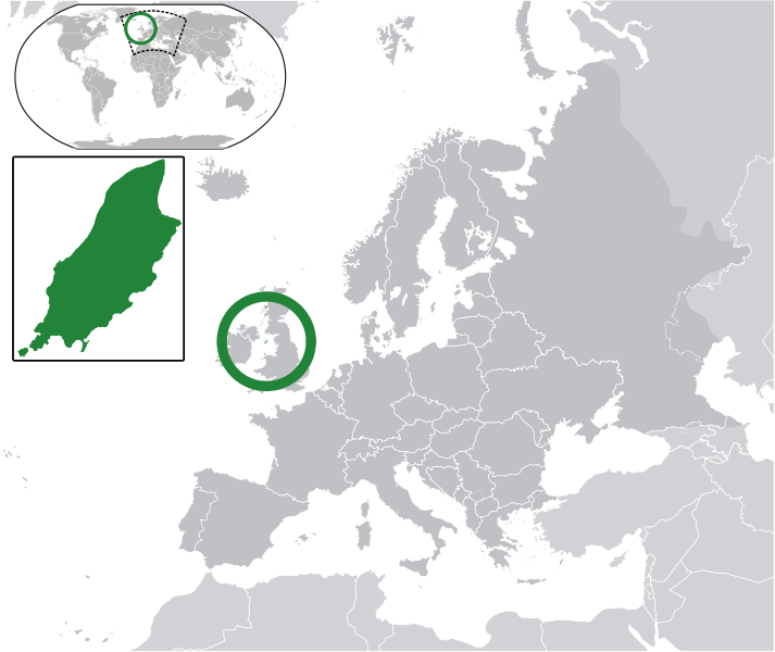 location of Isle of Man high resolution