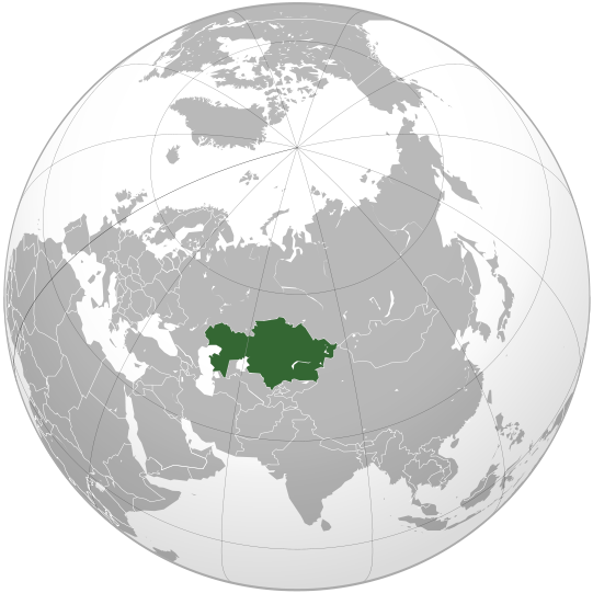 location of Kazakhstan high resolution