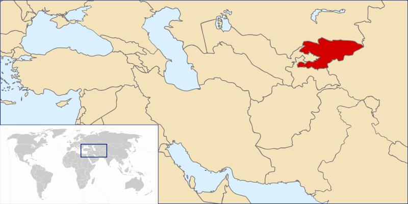 Lage von Kirgisistan hohe Auflösung