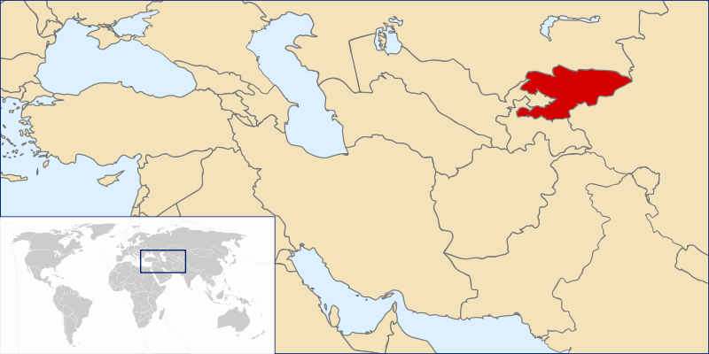 la situacion de Kirguistán en gran resolucion