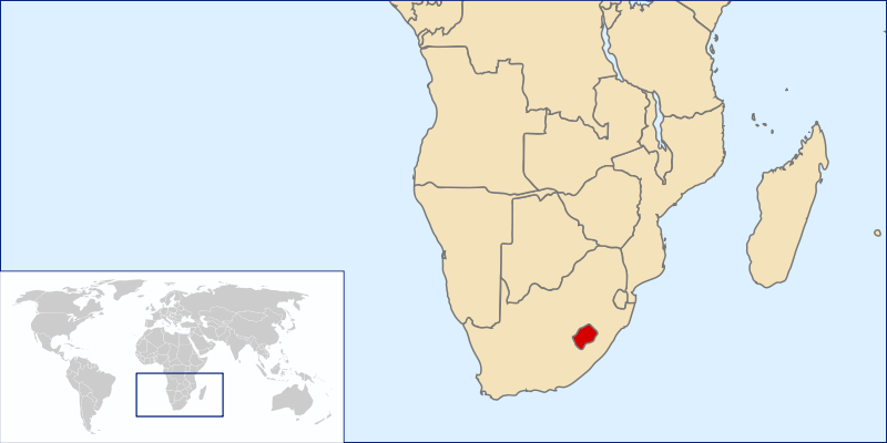 location of Lesotho high resolution