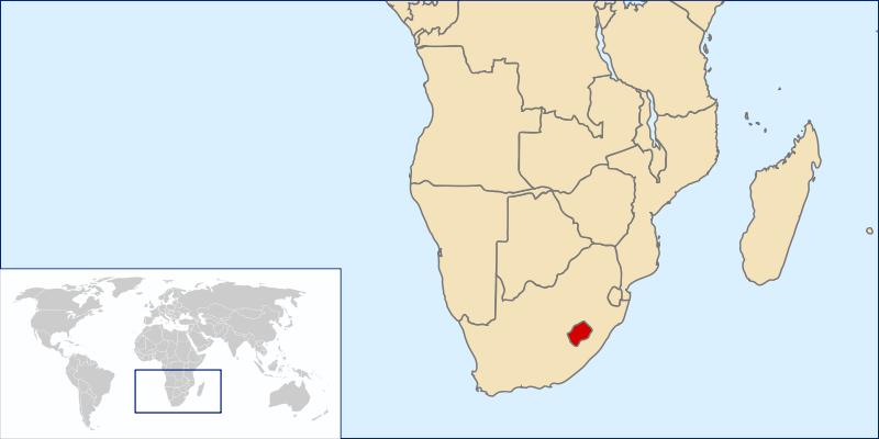 la situacion de Lesoto en gran resolucion