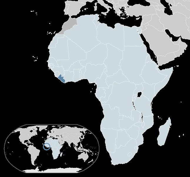 a situação dos Libéria em alta resolução