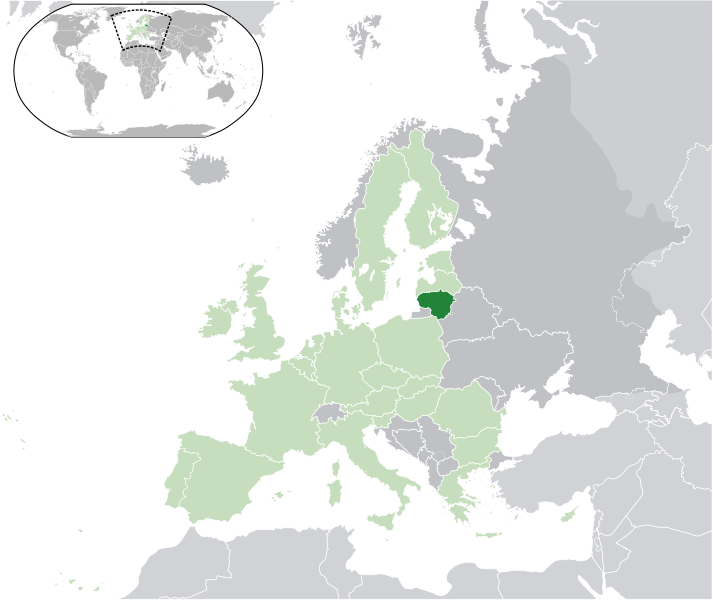 location of Lithuania high resolution