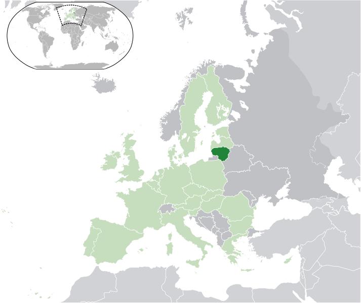 Lage von Litauen hohe Auflösung