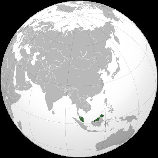 la situacion de Malasia en gran resolucion