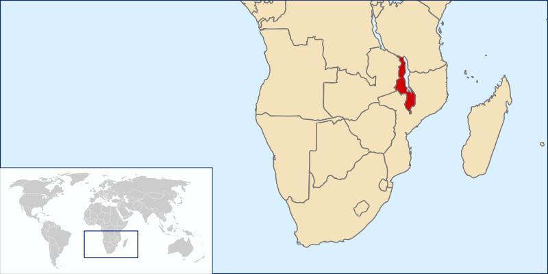 a situação dos Malawi em alta resolução