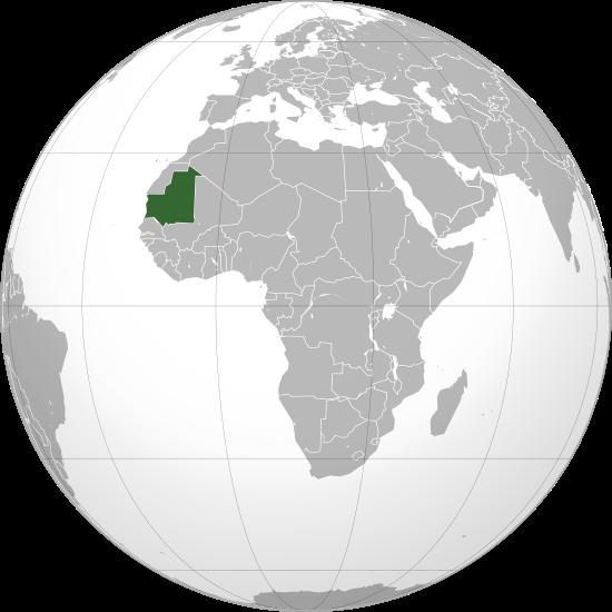 Lage von Mauretanien hohe Auflösung