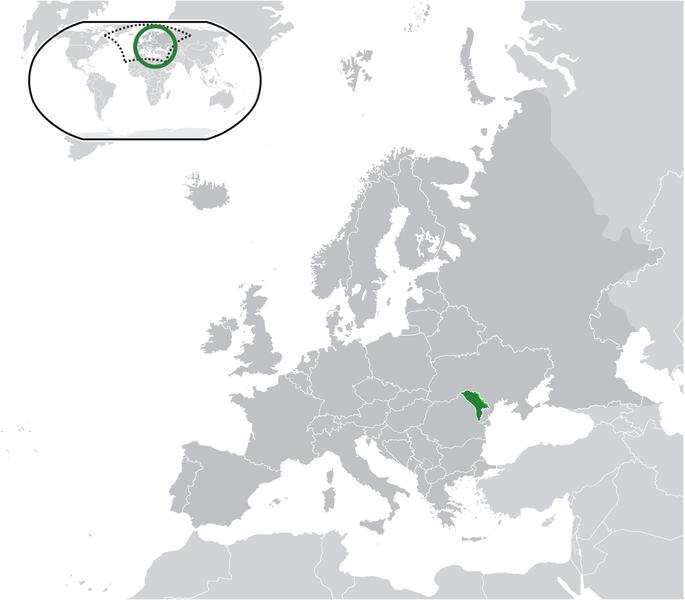 la situation des Moldova haute résolution