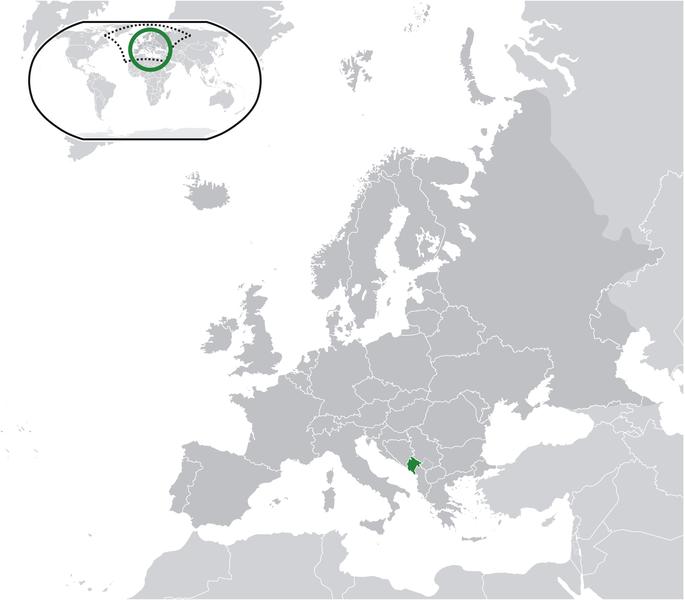la situacion de Montenegro en gran resolucion