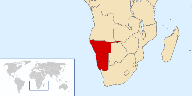 location of Namibia high resolution