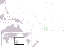 Lage von Niue hohe Auflösung