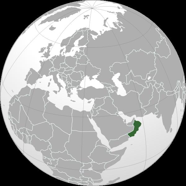 la situacion de Omán en gran resolucion