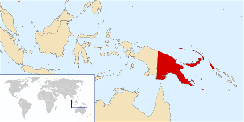 location of Papua New Guinea high resolution