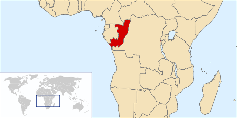 location of Republic of Congo high resolution