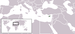 location of Turkish Republic of Northern Cyprus high resolution