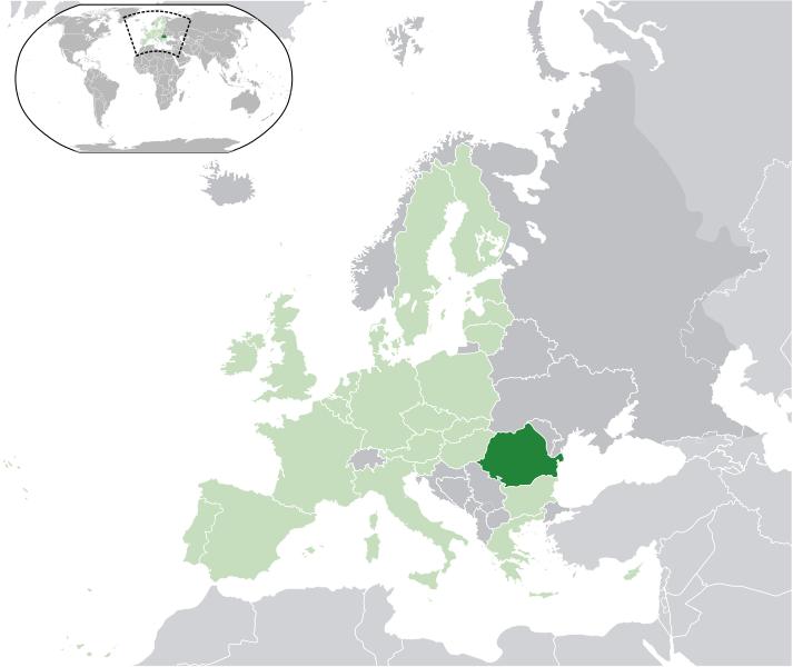 location of Romania high resolution