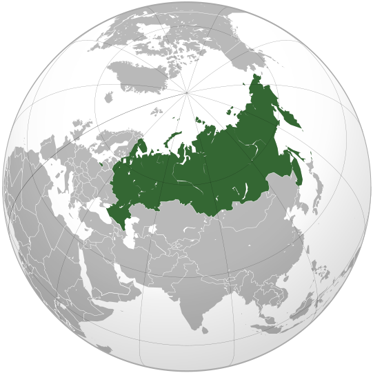 location of Russia high resolution