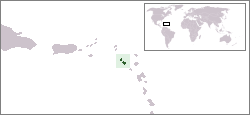 Lage von St. Kitts und Nevis hohe Auflösung