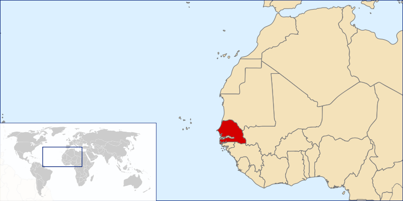 location of Senegal high resolution