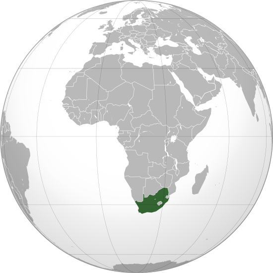 location of South Africa high resolution