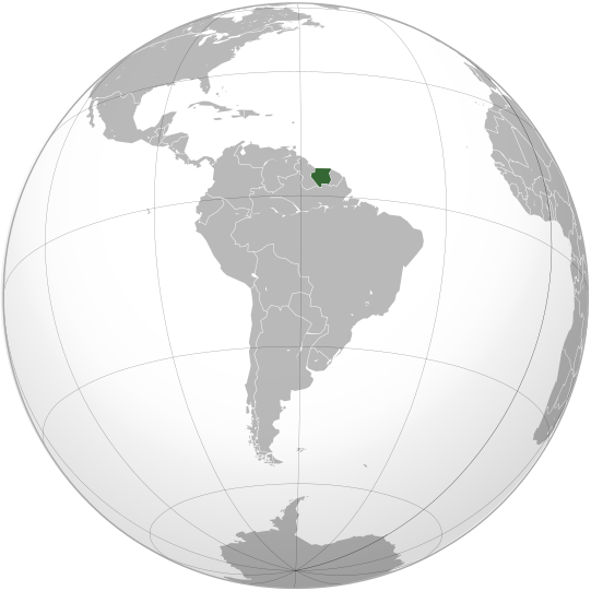location of Suriname high resolution