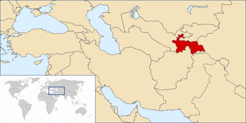 a situação dos Tajiquistão em alta resolução