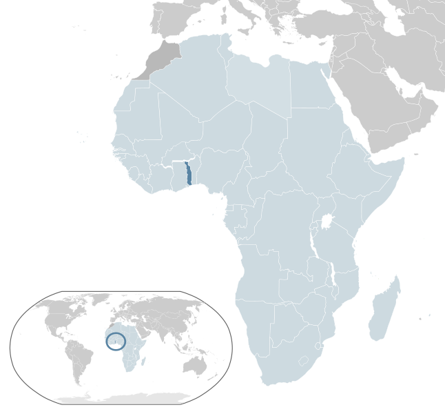 location of Togo high resolution