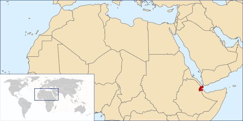 location of Djibouti high resolution